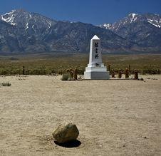 Free Manzanar Memorial Royalty Free Stock Photography - 5505827