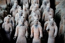 Terra Cotta Warriors Of Qin Royalty Free Stock Photos