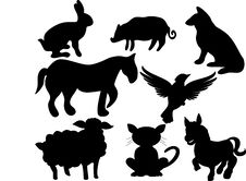 Free Silhouette Animals Stock Images - 5506454