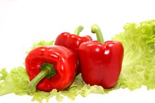 Free Red Pepper And Verdure Stock Photo - 5506530