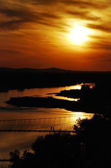 Free Sunset In China Xingjiang Stock Photo - 5506590