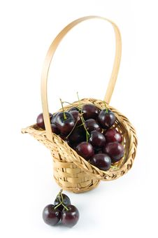 Free Basket Of Cherries Royalty Free Stock Photos - 5508208