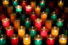 Free Candles In Glasses Stock Image - 5508211