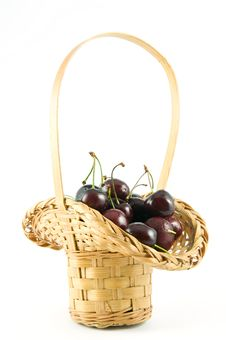 Free Basket Of Cherries Royalty Free Stock Photography - 5508217