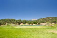 An Arizona Golf Course Stock Photography