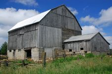 Free Barn Clouds Blue Sky Stock Photo - 5508780