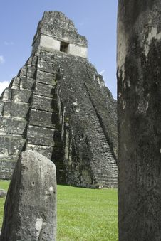Tikal Temple 4 Stock Photography