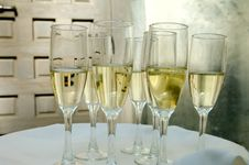 Free Glasses Of Champagne Stock Image - 5508851