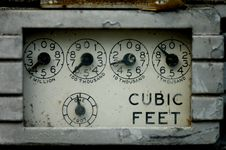 A Gas Meter Royalty Free Stock Photos