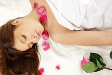 Free Attractive Woman Getting Spa Treatment Royalty Free Stock Images - 5509229