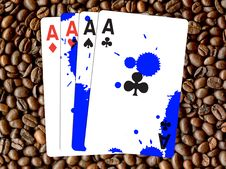 Free Four Aces Royalty Free Stock Photography - 5509547