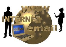 Free Golden World Wide Web Royalty Free Stock Photography - 5509877