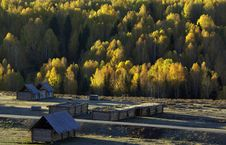 Free Wood Building In Landscape Stock Image - 5509911