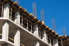 Free Construction Of A Building On Summer Day Royalty Free Stock Images - 55068919