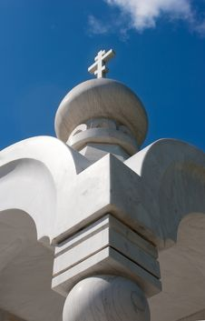 Small Chapel Of White Marble Royalty Free Stock Photo