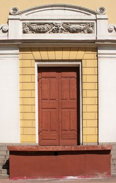 Free Front Door Decorated With Bas-reliefs Royalty Free Stock Photos - 55069798