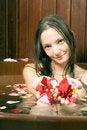 Free Lady Sitting In Bathtub - Vertical Royalty Free Stock Photos - 5510188