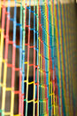 Free Rainbow Colored Net Background Stock Photography - 5514932