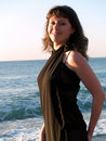 Free Beautiful Young Lady Posing Bikini Sunrise Royalty Free Stock Photos - 5515338