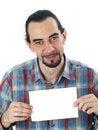 Free Man With Blank Sheet Royalty Free Stock Photos - 5517738