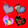 Free Gift Tags In The Form Of Heart. Royalty Free Stock Photos - 5519258