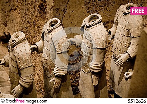 Free Terra Cotta Warriors Of Qin Royalty Free Stock Image - 5512626