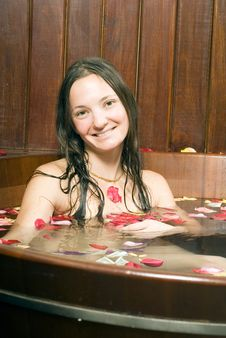 Free Woman Smiling In Tub - Vertical Royalty Free Stock Photo - 5510215