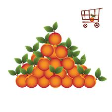 Free Shopping Basket With Fruit Stock Photos - 5510583