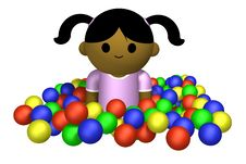 Girl Playing In Ball Pool Royalty Free Stock Photos