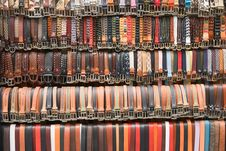 Belts For Sale Stock Photography