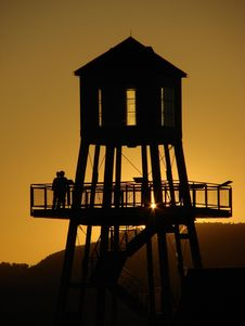 Free Tower At Sunset Stock Image - 5512011
