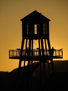 Tower At Sunset Royalty Free Stock Photos