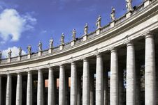 Columns Of The Basilica At St. Peter S Square, Rom Royalty Free Stock Image