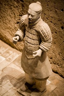 Terra Cotta Warriors Of Qin Royalty Free Stock Photography