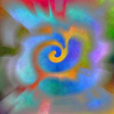 Psychedelic Spiral 3 Royalty Free Stock Image