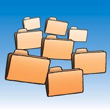 Free Folders (vector) Royalty Free Stock Image - 5513566