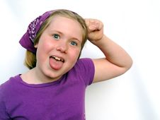 Free Little Girl Acting Goofy Royalty Free Stock Photo - 5514915