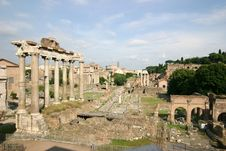 Free Roman Forum Panoramic View Royalty Free Stock Photos - 5515058