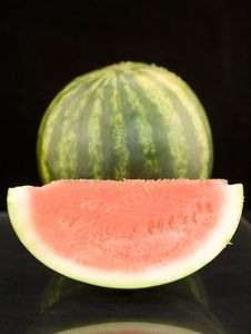Free Juicy Water Mellon Cut Into Peices Stock Photography - 5515262