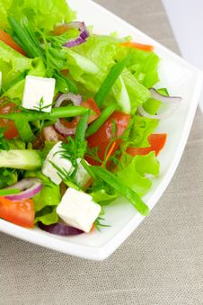 Free Salad With Greens Royalty Free Stock Photo - 5515285