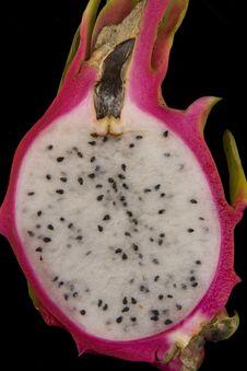 Free Dragon Fruit Cut In Half Showing Seeds Stock Image - 5515371