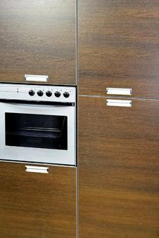 Free Oven In Cabinet Stock Photography - 5516202