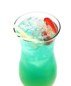 Free Cocktail - Blue Hawaii Stock Photography - 5516282