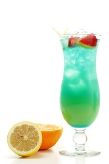 Free Cocktail - Blue Hawaii Stock Images - 5516284