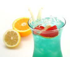 Free Cocktail - Blue Hawaii Royalty Free Stock Photography - 5516287