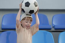 Free The Boy With A Ball Stock Photos - 5516363