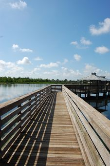 Free Wooden Walkway Royalty Free Stock Image - 5516806