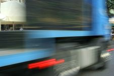 Free Speed Of A Truck-blur Stock Photography - 5516972