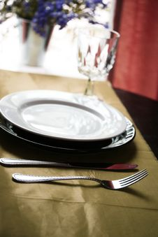 Free Table Set For Dinner Royalty Free Stock Image - 5517056