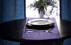 Free Elegant Blue Restaurant Stock Photo - 5517060